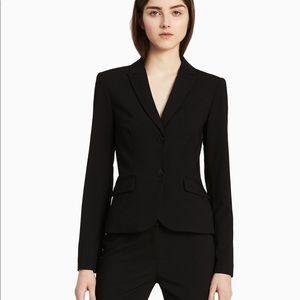 Calvin Klein classic two-button black blazer
